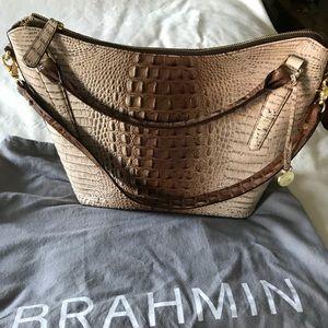 Brahmin tan/brown signature bag. Worn twice.